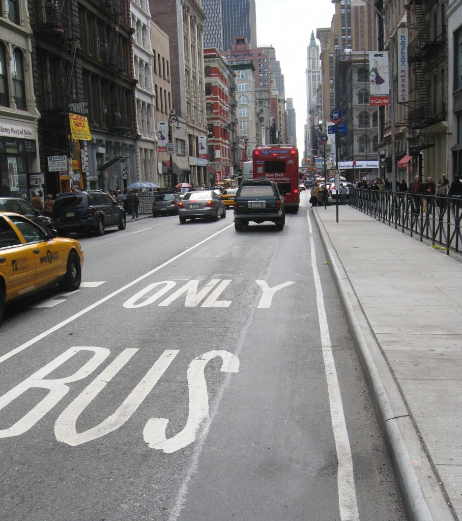 Bus only lanes are a main stay in many cities around the world.