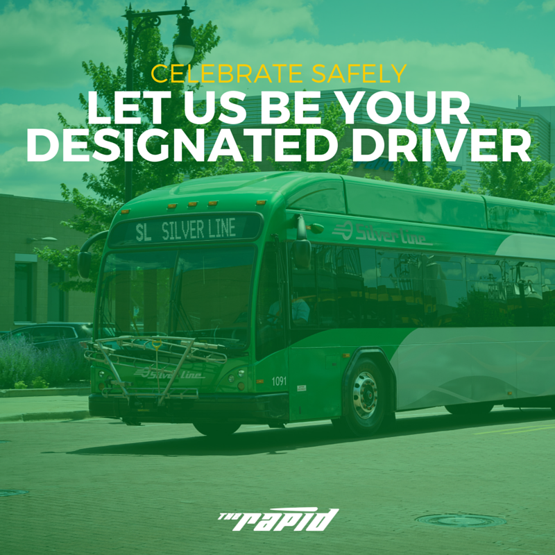 Celebrate St. Patrick's Day safely. Let The Rapid be your designated driver.