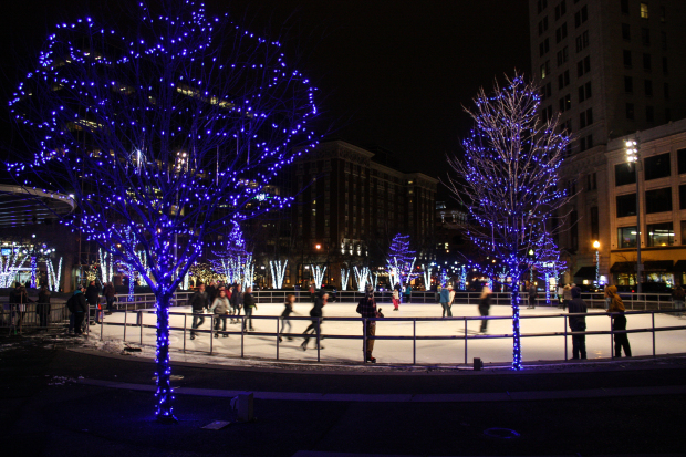 Ice Skating in Grand Rapids at Rosa Parks Circle