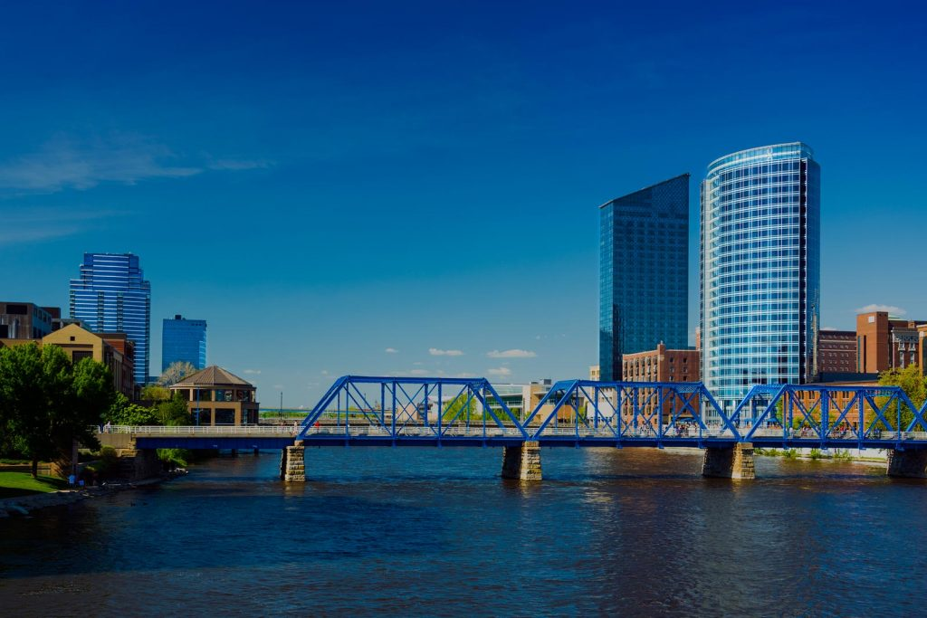 Blue Bridge in Grand Rapids, MI