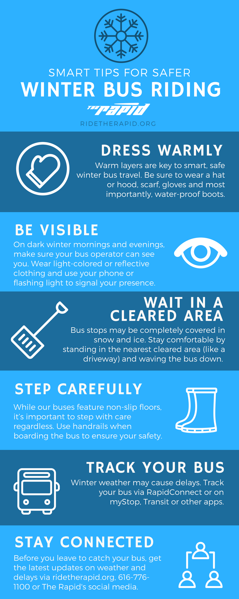Smart Tips For Safer Winter Bus Riding Get On Board The Rapid