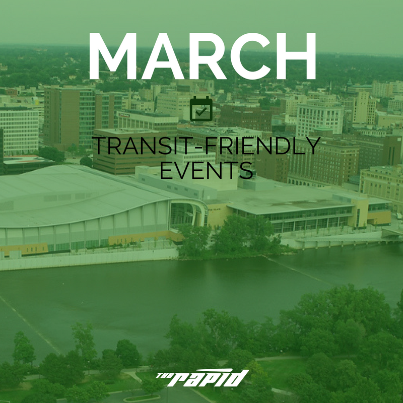 Transit-Friendly Events in March 2018