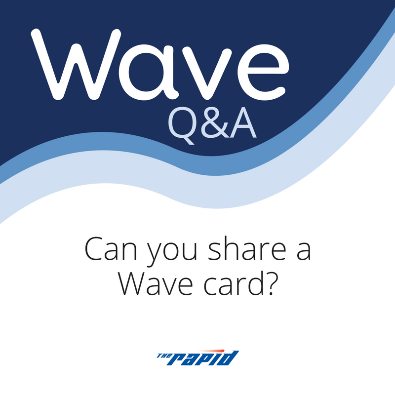 Can you share a Wave card?