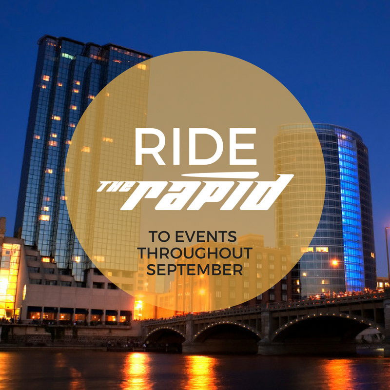 Ride The Rapid to events throughout September