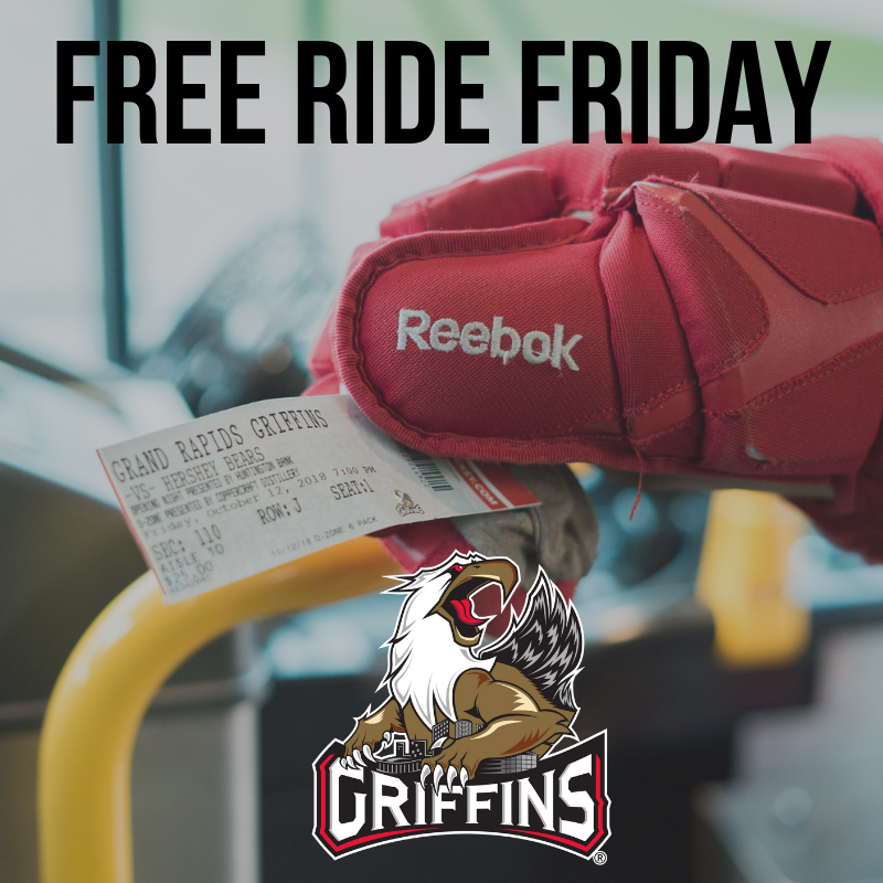 Free Ride Fridays at the Grand Rapids Griffins at Van Andel Arena in Grand Rapids, MI