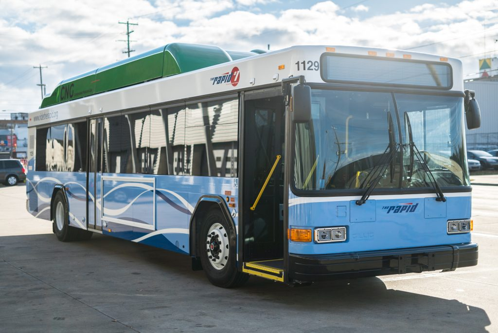 The Rapid's CNG Bus
