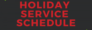 The Rapid's Holiday Service Schedule