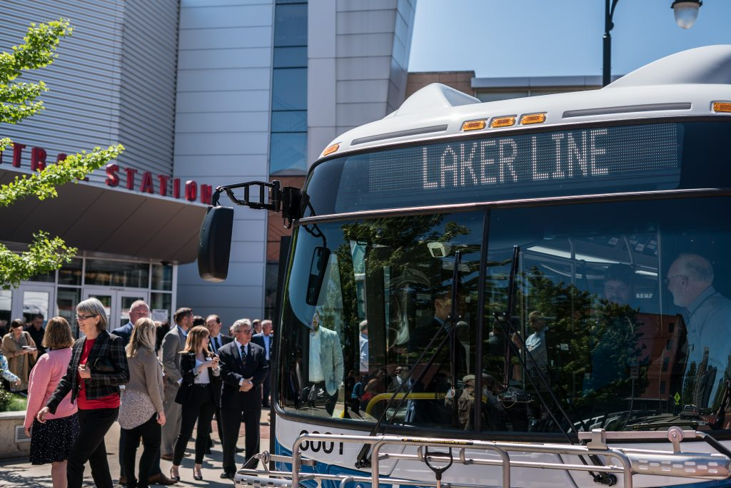Laker Line Unveiling at Rapid Central Station