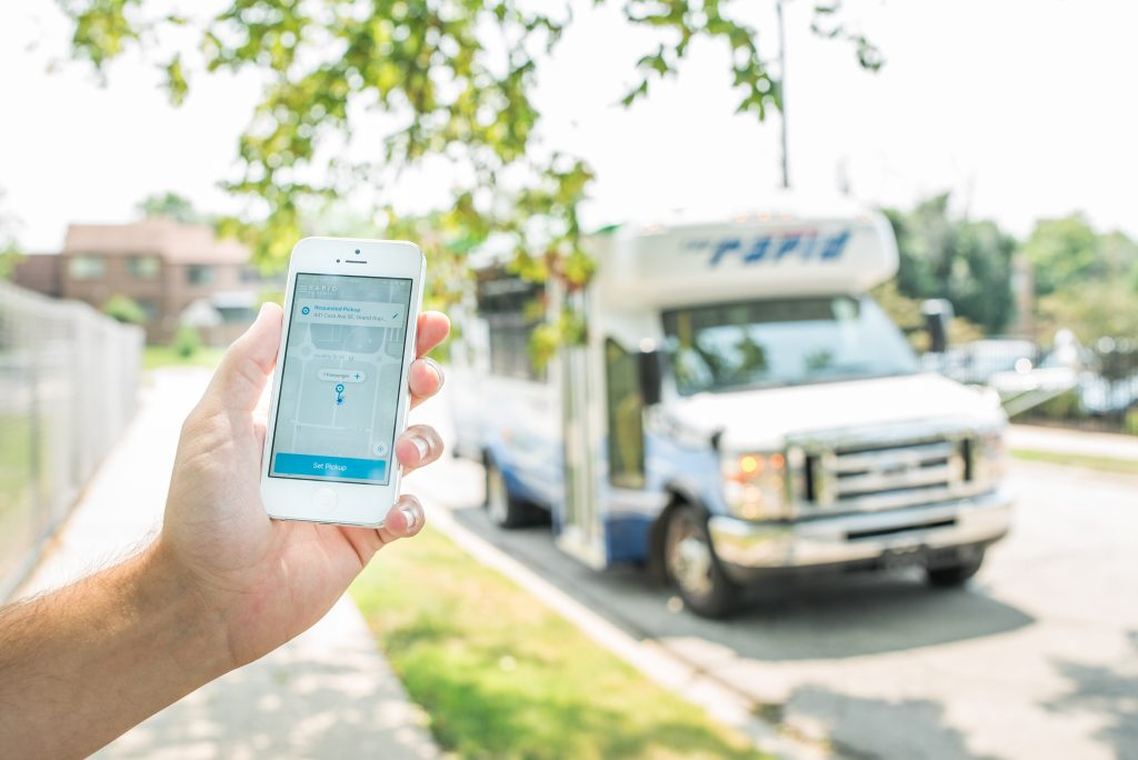 Rapid On Demand shuttle and app
