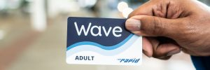 The Wave card replaces paper tickets